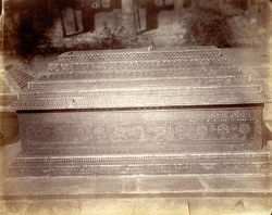 Marble tomb of Mirki Bibi in the Rani Ka Hajira or Tombs of the Queens, Ahmadabad